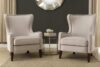 Orson Natural Wingback Chair Lifestyle