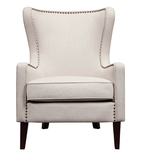 Orson Natural Wingback Chair