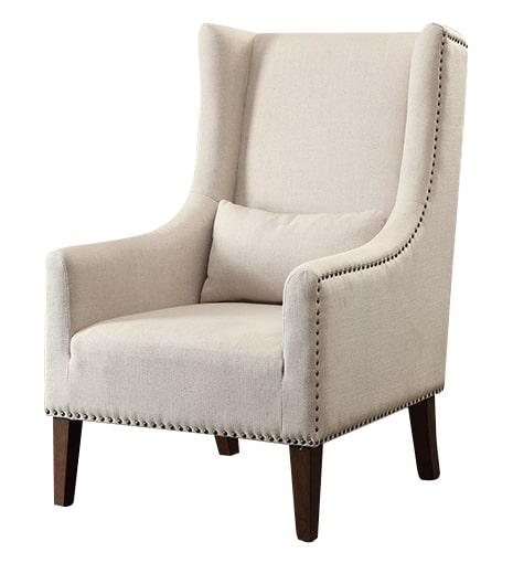 Davenport Natural High Back Chair Angle