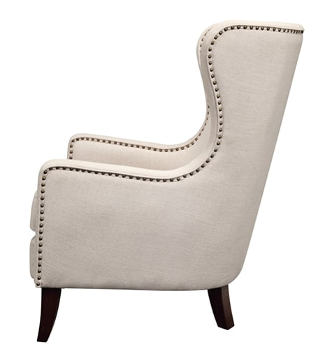 Orson Natural Wingback Chair Side