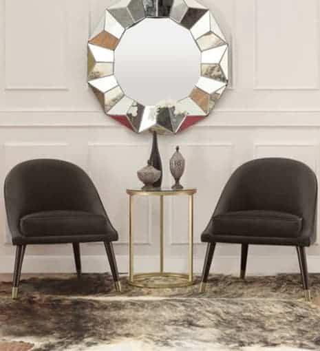 Ava Grey Cocktail Chair Lifestyle