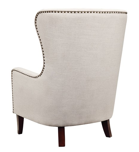 Orson Natural Wingback Chair Back