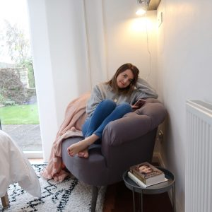 Eversley Grey Armchair With Alice