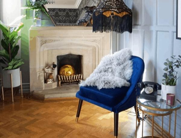 Ava Blue Cocktail Chair