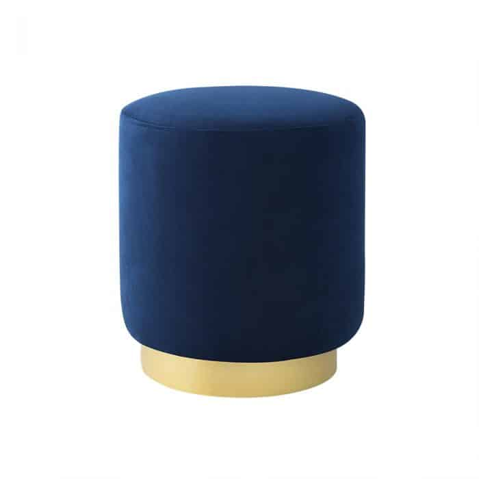 Lola Electric Blue Ottoman