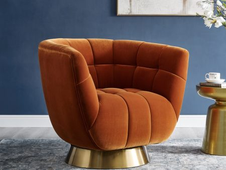 Burnt Orange Velvet Chair