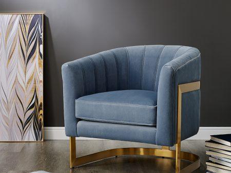 Powder Blue Velvet Chair