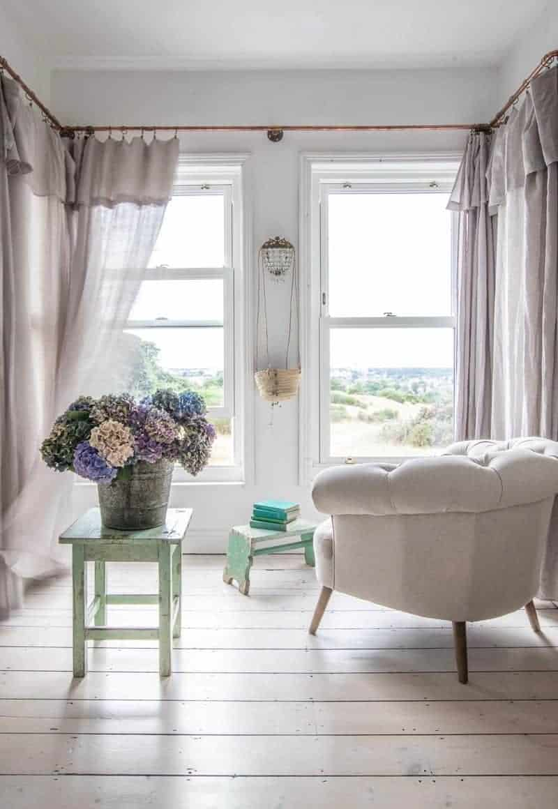 Eversley Natural Armchair Bay Window