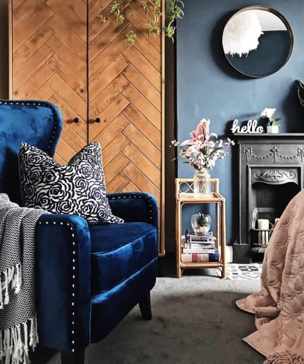 Orson Blue Velvet Chair