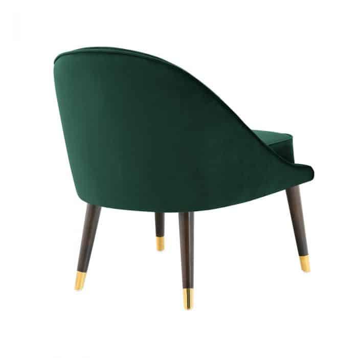 Ava Emerald Green Velvet Cocktail Chair