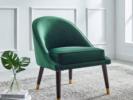 Ava Emerald Green Velvet Cocktail Chair