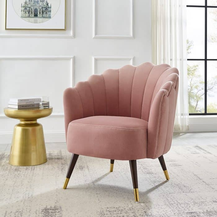 Camille Blush Pink Scalloped Chair