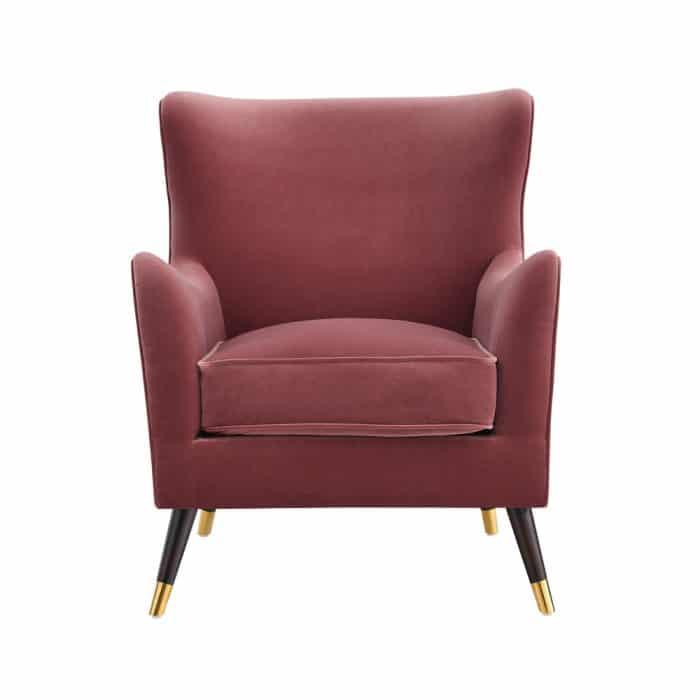 Heath Berry Pink Velvet Armchair