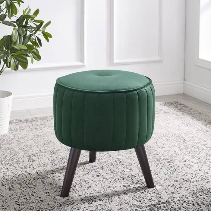 Isla Emerald Green Velvet Ottoman