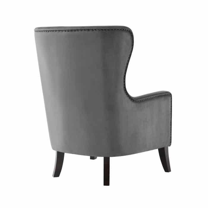 Orson Mushroom Grey Velvet Chair