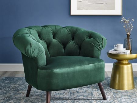 Eversley Emerald Green Velvet Armchair