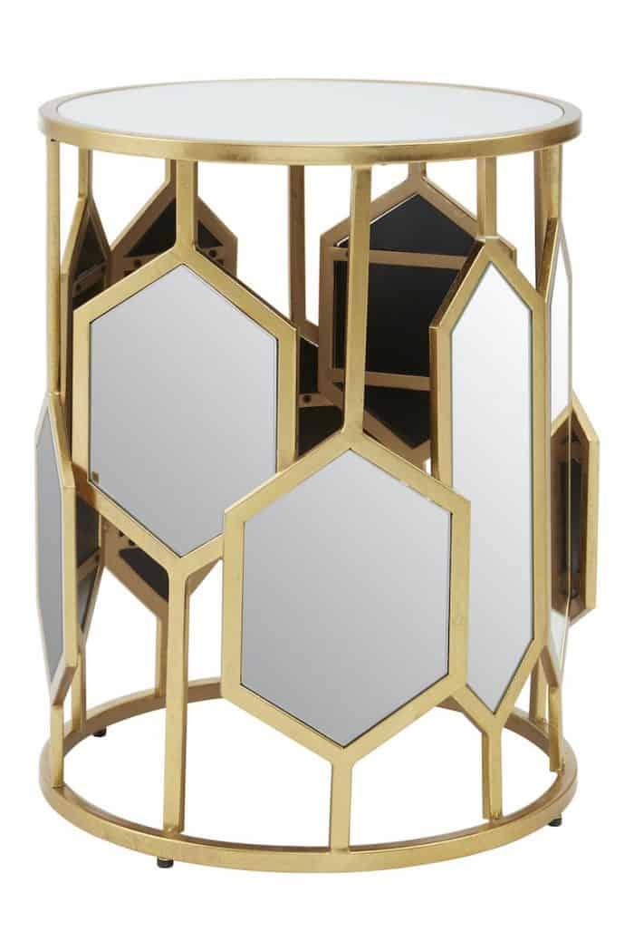 Sophia Mirrored Side Table