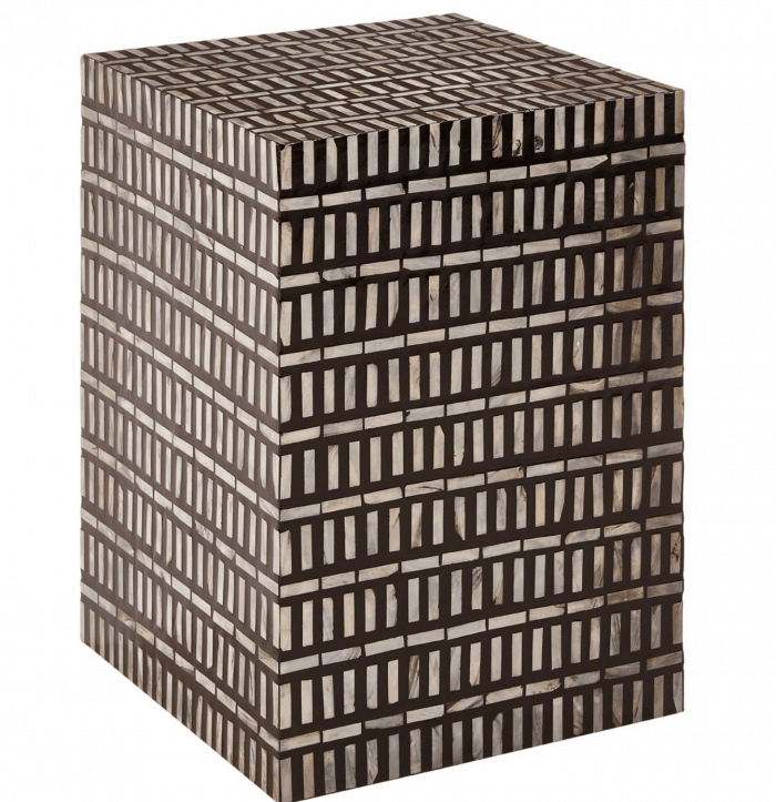 Koko Black and White Side Table