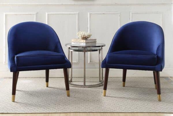 Ava Sapphire Blue Velvet Cocktail Chair