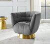 Darcy Feather Grey Velvet Chair