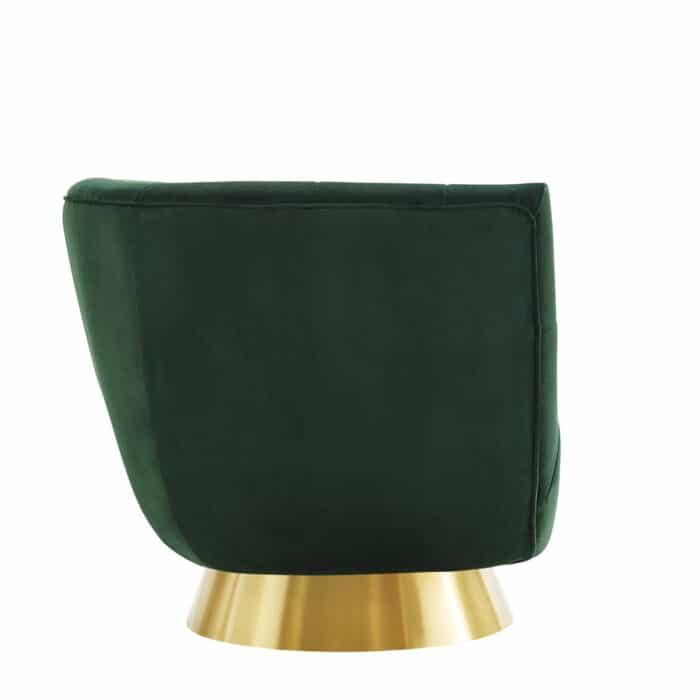 Darcy Emerald. Green Velvet Swivel Chair