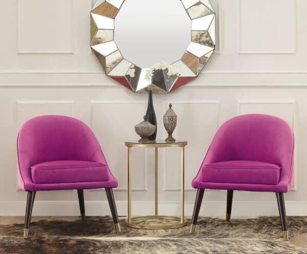 Ava Pink Velvet Cocktail Chair