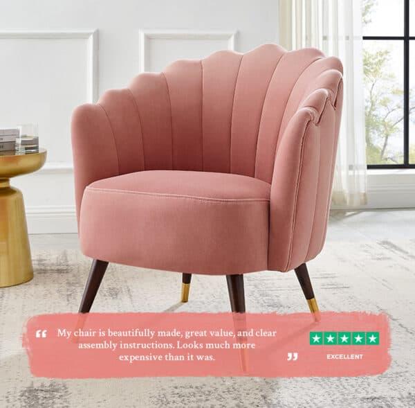 Camille Blush Pink chair