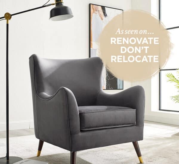 Heath Feather Grey Chair
