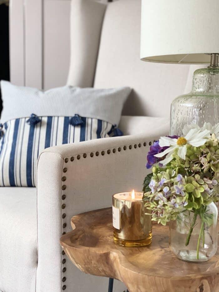 Davenport Oatmeal linen chair