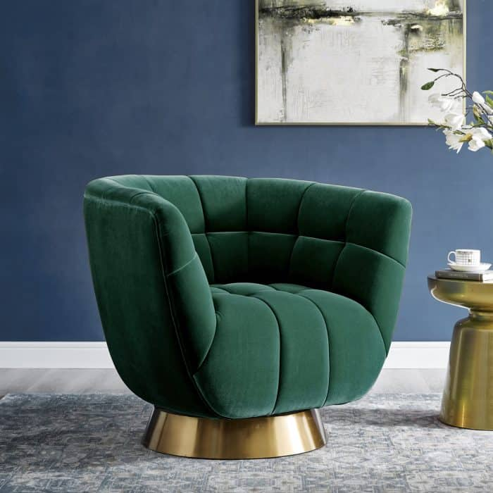 Darcy Emerald Green Velvet Chair
