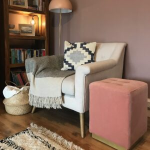 Margot Blush Pink Footstool