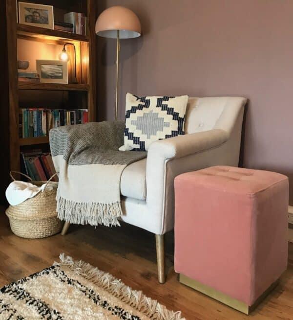 Margot Blush Pink Footstool