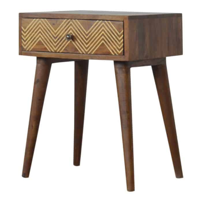 Bertie Brass Inlay Side Table
