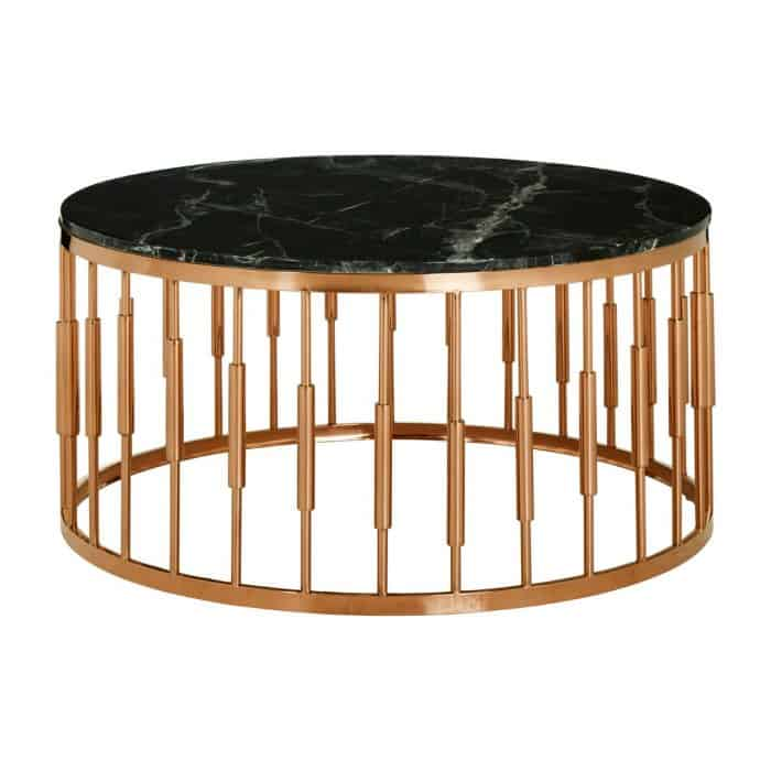 Mila Rose Gold Marble Coffee Table