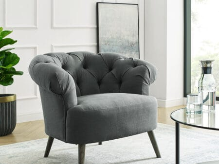 Eversley Grey Linen Chair