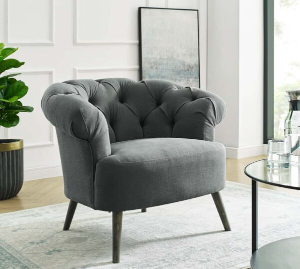 Eversley Grey Linen Chair