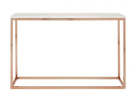 Viola Rose Gold Console Table