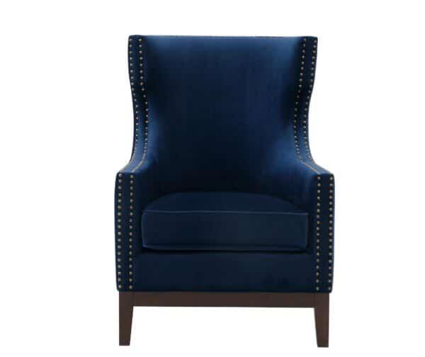 Wilton Sapphire Blue Velvet Chair