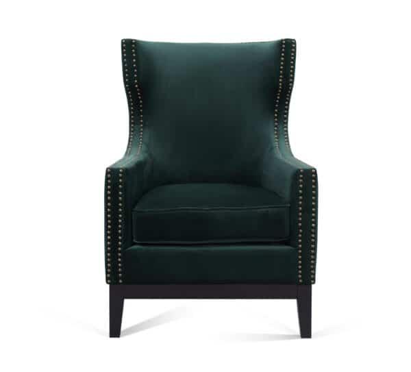 Wilton Green Velvet Chair
