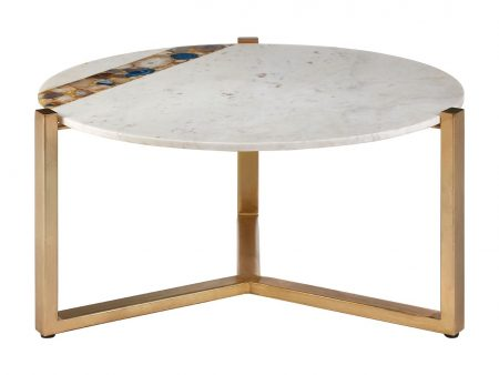 Zaria Marble Round Coffee Table