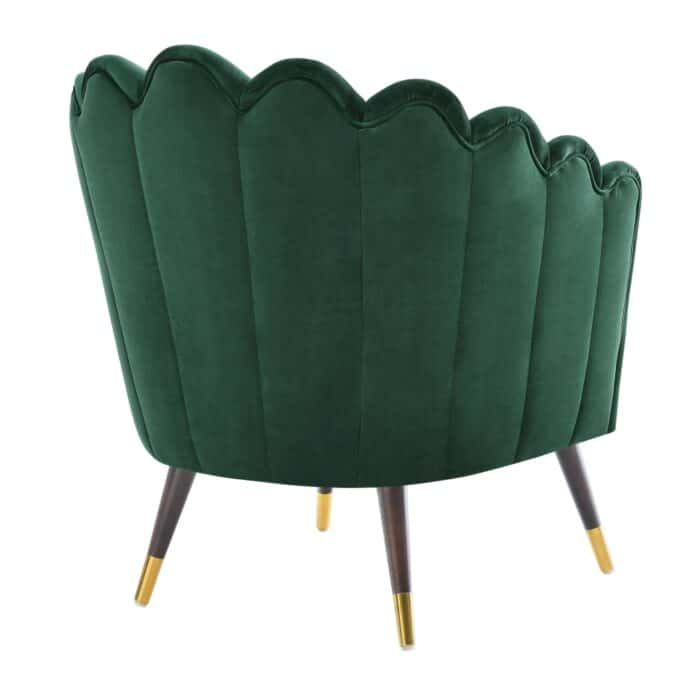 Camille Scalloped Green Chair