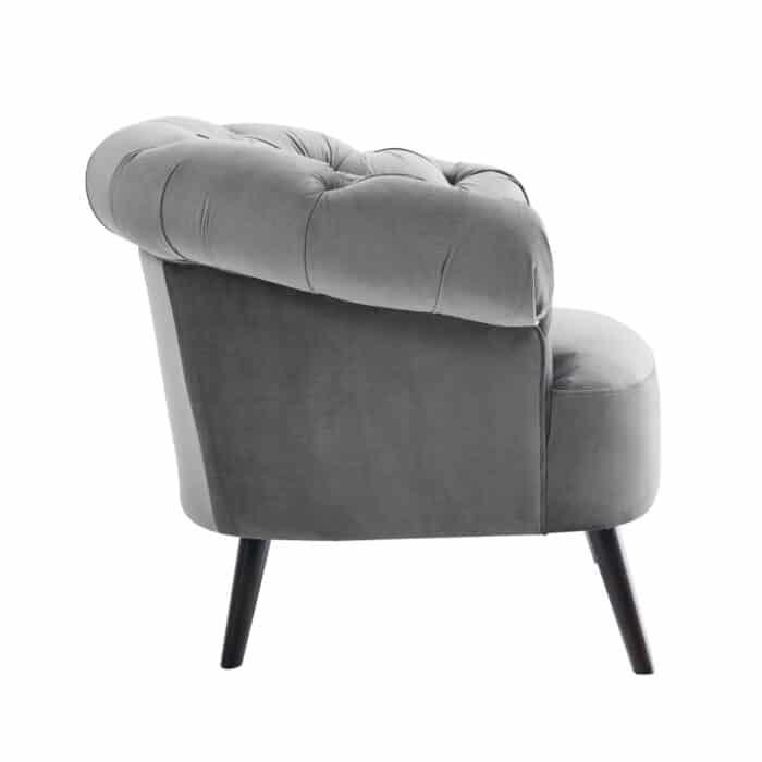 Eversley Feather Grey Velvet Chair