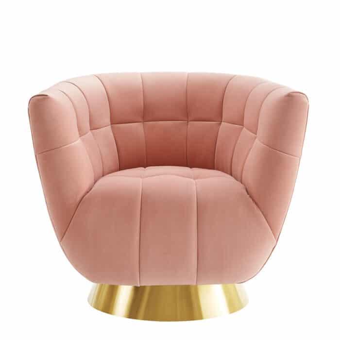 Darcy Blush Pink Swivel Chair