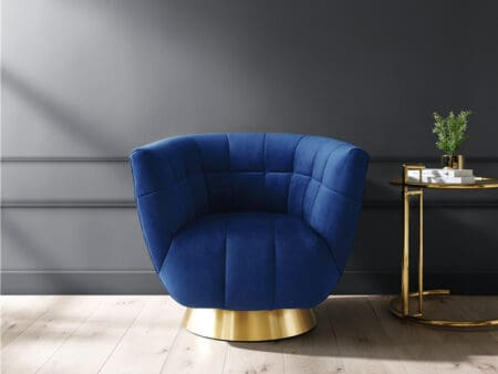 Darcy Sapphire Blue Velvet Chair