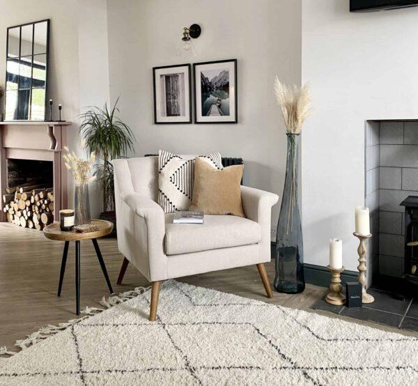 Manhattan Oatmeal Linen Chair