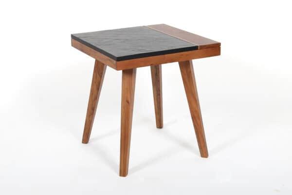 Quinn Slate Square Side Table