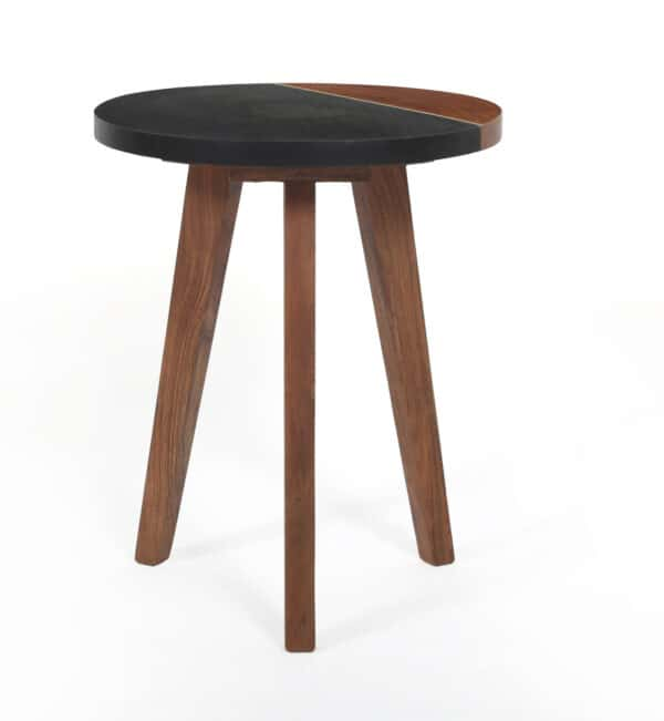 Quinn Slate Round Side Table