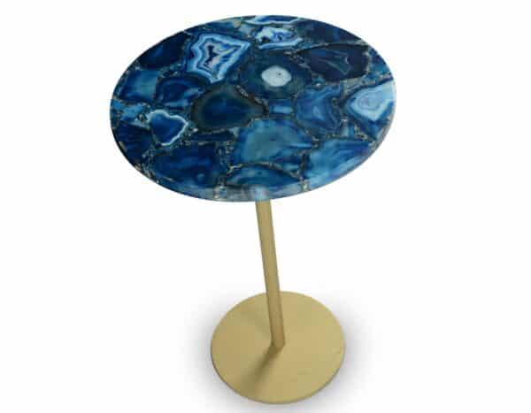 Thea Ocean Blue Agate Side Table