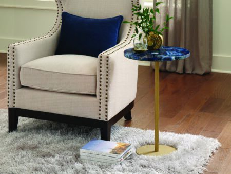Thea Ocean Blue Agate Side Table