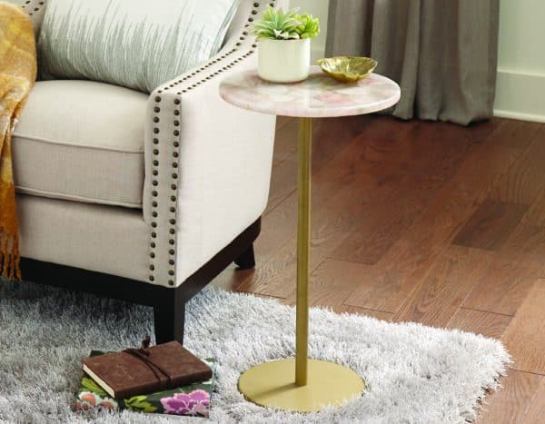 Thea Rose Quartz Side Table